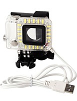 1 Spot Light LED Voor Gopro Hero 3+ / Gopro Hero 4 / Gopro Hero 4 Session LED Others Plastic Fuchsia / transparant