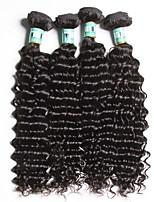 Brazilian Virgin Hair Deep Wave 4 Bundles Total 400 Grams Unprocessed Virgin Human Hair Weave Extensions