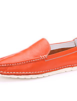 Men's Shoes Outdoor / Casual Nappa Leather Loafers Black / Blue / White / Orange