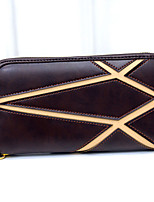 VENETA Women PU Bi-fold Clutch / Wallet / Card & ID Holder-Brown / Black