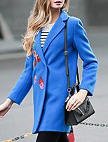 Cappotti Da donna Semplice Manica lunga Lana