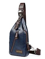 Men PU Baguette Shoulder Bag / Tote / Wallet / Card & ID Holder / Mobile Phone Bag Messenger Bag-Blue / Black