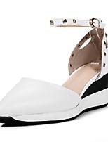 Zapatos de mujer-Tacón Cuña-Cuñas / Puntiagudos-Sandalias-Vestido / Casual / Fiesta y Noche-Semicuero-Negro / Rojo / Blanco