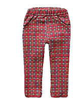 Girl's Red Pants Cotton All Seasons