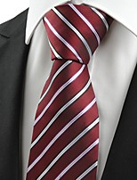 KissTies Men's Striped Microfiber Tie Necktie For Wedding Party Holiday With Gift Box(2 Colors Available)