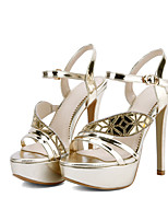 Women's Shoes Glitter Spring / Summer / Fall Heels  / Party & Evening / Dress Platform Sparkling Glitter Silver / Gold
