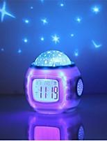 HRY® Music Starry Star Sky Digital Led Projection Projector Alarm Clock Calendar Thermometer horloge reloj despertador