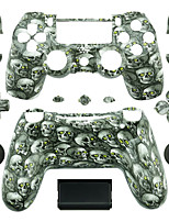 Replacement Controller Case for PS4 Controller (Green Eye Skull)
