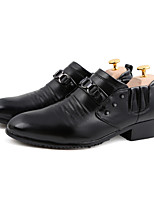 Men's Shoes Outdoor / Office & Career / Casual Leather / PVC / Leatherette Oxfords Black / White