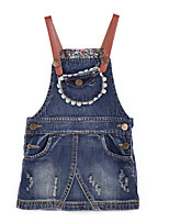 Girl's Jeans,Cotton Summer / Spring Blue