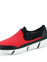 Men's Shoes Outdoor / Office & Career / Athletic / Casual Fabric Fashion Sneakers / Athletic Shoes Black / Red / White