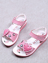 Girls' Shoes Outdoor / Dress / Casual Comfort Leather Sandals / Flats Summer Walking Shoes Pink / Red / White