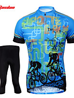 Tasdan Cycling Clothing Cycling Wear Men's Short Sleeve Jerseys Suit Cycling Jerseys & Shorts Tights 3/4 Pants Sets