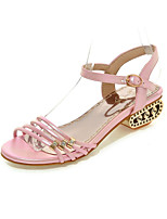 Women's Shoes Chunky Heel Open Toe Sandals Casual Pink / Purple / White / Gold