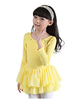 Vestido Chica de-Todas las Temporadas-Algodón-Rosa / Amarillo