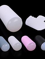 Nail Art Transparent Silicone Stamper & Security Plastic Scraper Kit(Random Color)