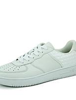 Men's Sneakers Spring / Summer Comfort PU Outdoor Flat Heel Lace-up Black / Red / White Walking