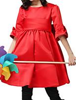 Mädchen Kleid-Baumwolle Frühling / Herbst Rot