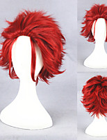 12inch Short Red K Suoh Mikoto Synthetic Anime Cosplay Wig CS-279A