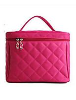 Women PU Professioanl Use Cosmetic Bag-Red
