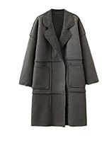 Damen Mantel - Einfach Langarm Polyester