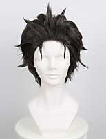 Life in a Different World from Zero Subaru Natsuki Black with gray Anti-Alice cosplay wig