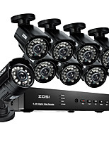 ZOSI@8CH 960H HDMI DVR 8PCS 800TVL Outdoor CCTV Home Security Camera System