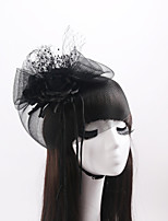 Women's / Flower Girl's Satin / Organza / Net Headpiece-Wedding / Special Occasion / Casual Fascinators 1 Piece