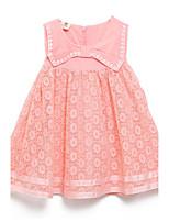 Vestido Chica de-Verano-Algodón-Rosa