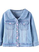 Veste & Manteau Fille de Printemps / Automne Coton Bleu