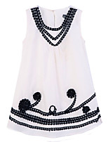 Girl's Dress,Cotton Summer / Spring White