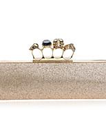 Women Metal Baguette Evening Bag-Gold