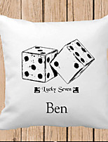 Pillow Kids Cotton Linen Case English Words Cartoons Printed Decorative Home Cushion Comfortable Back Throw Cove