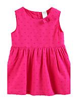 Girl's Red Dress Cotton Summer