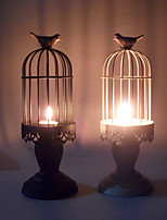 Valentine'S Day European-Style Wedding Romantic Candlelight Furnishing Articles Birdcage Wrought Iron Candlestick
