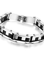 Stainless Steel Bracelet & Bangle Men's Jewelry Charm Chain Wristband Men's Bracelet