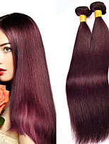 1PCS Brazilian Straight Hair Ombre Human Hair Weaves #99J Color Hair 12-24 inch Virgin Hair