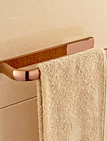 Rose Gold-plated Brass Bathroom Towel Rack