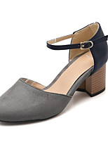 Women's Shoes Fleece Chunky Heel Heels Heels Wedding / Office & Career / Party & Evening / Dress /  Gray / Orange