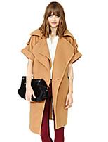 Women's Solid Brown Cardigan,Simple Short Sleeve