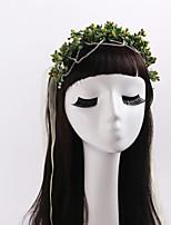 Women's / Flower Girl's Rhinestone / Tulle / Fabric Headpiece-Wedding / Special Occasion / Outdoor Wreaths 1 Piece