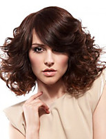 Popular! Top Quality Brown Color Middle Style Curly Synthetic Wigs