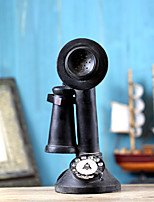 Home Ornaments Vintage 1940s Western  Black Rotary Handset Desk Phone Model
