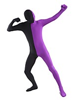 Unisex Multi-Color Zentai Suits Lycra / Spandex Purple-Black StitchingZentai