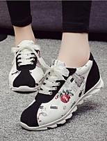 Chaussures Femme-Extérieure / Décontracté / Sport-Noir / Gris-Talon Plat-Confort-Baskets à la Mode-Daim