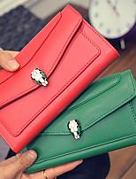 VENETA Women PU Bi-fold Clutch / Wallet-Green / Red / Gray / Black