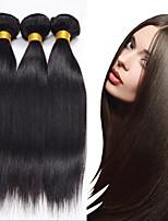 3PCS Peruvian Straight Hair Human Hair Weaves Natural Color 8-26 inch Virgin Hair