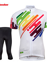 Tasdan Cycling Clothing Cycling Wear Men's Short Sleeve Jerseys Suit Cycling Jerseys & Shorts Tights 3/4 Pants Sets
