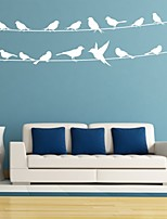 AYA™ DIY Wall Stickers Wall Decals, Bird on the Wire PVC Wall Stickers