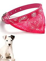Perros Collar Ajustable/Retractable Rojo / Negro / Azul Cuero PU / Textil